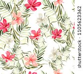 beautiful bright watercolor... | Shutterstock . vector #1105623362