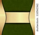 Gold And Green Template With...