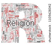 vector conceptual religion  god ...   Shutterstock .eps vector #1105628342