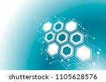 abstract hexagonal molecular...   Shutterstock .eps vector #1105628576