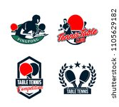 set of table tennis badges... | Shutterstock .eps vector #1105629182