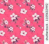 romantic seamless pattern with...   Shutterstock . vector #1105632992