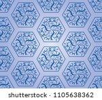 seamless pattern for kurta...   Shutterstock .eps vector #1105638362