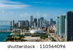 aerial view of downtown miami.... | Shutterstock . vector #110564096