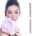 beauty portrait. beautiful spa... | Shutterstock . vector #1105641092