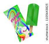 flavor pop ice cream with... | Shutterstock .eps vector #1105643825