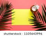 trendy summer tropical leaves... | Shutterstock . vector #1105643996