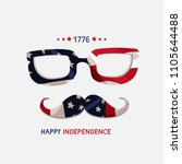 fourth of july. 4th of july... | Shutterstock .eps vector #1105644488