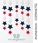 fourth of july. 4th of july... | Shutterstock .eps vector #1105646732