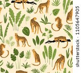 vector seamless pattern with... | Shutterstock .eps vector #1105647905