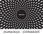 vector white arrows in radial... | Shutterstock .eps vector #1105666265