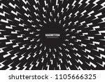 vector white thunder and bolt... | Shutterstock .eps vector #1105666325