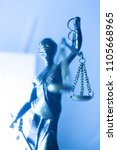 legal law firm bronze statue of ... | Shutterstock . vector #1105668965