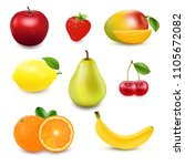 collection fresh fruit and... | Shutterstock .eps vector #1105672082
