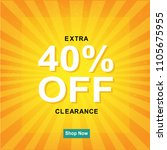 sale poster with sunburst with... | Shutterstock .eps vector #1105675955