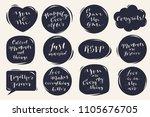 vector calligraphic hand... | Shutterstock .eps vector #1105676705