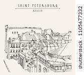 saint petersburg  russia. high... | Shutterstock .eps vector #1105677332