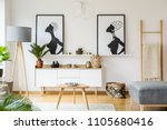 black and white african posters ... | Shutterstock . vector #1105680416