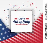 4th of july   independence day... | Shutterstock .eps vector #1105681958