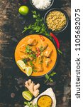 traditional curry and... | Shutterstock . vector #1105682075