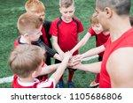 high angle portrait of junior... | Shutterstock . vector #1105686806
