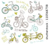 vintage bicycle set and a... | Shutterstock .eps vector #110568758