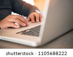 business woman working on... | Shutterstock . vector #1105688222