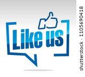 like us white grey blue sticker ... | Shutterstock .eps vector #1105690418