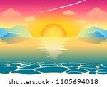 a beautiful fairy sunset or a... | Shutterstock .eps vector #1105694018