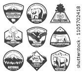 vintage monochrome national... | Shutterstock .eps vector #1105702418