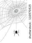 spider web illustration  for... | Shutterstock .eps vector #110570525