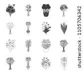 a bouquet of fresh flowers... | Shutterstock . vector #1105706342