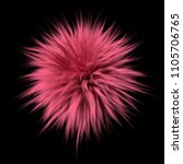 pink fluffy ball isolated on... | Shutterstock . vector #1105706765