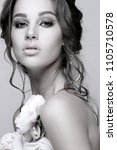 closeup portrait of sexy... | Shutterstock . vector #1105710578