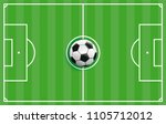cover with football ground and... | Shutterstock .eps vector #1105712012