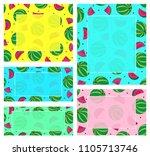 summer banners template  vector ... | Shutterstock .eps vector #1105713746