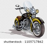 classic vintage motorcycle. | Shutterstock .eps vector #1105717862