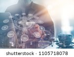 iot  internet of things and... | Shutterstock . vector #1105718078