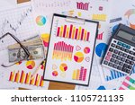 workplace of business analyst ... | Shutterstock . vector #1105721135