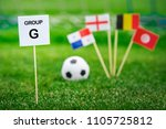 group g   national flags of... | Shutterstock . vector #1105725812