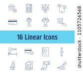 commerce icon set and increase...