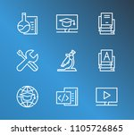 online education icon set and... | Shutterstock .eps vector #1105726865