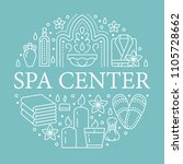 spa center banner illustration... | Shutterstock .eps vector #1105728662