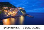 beautiful colorful panoramic... | Shutterstock . vector #1105730288