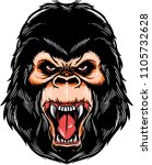 illustration of a gorilla with... | Shutterstock .eps vector #1105732628