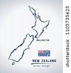 new zealand national vector... | Shutterstock .eps vector #1105735625