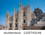 an architecture of milan...   Shutterstock . vector #1105743146