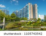 residential building in the... | Shutterstock . vector #1105743542
