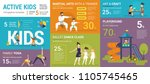 active kids infographics vector ... | Shutterstock .eps vector #1105745465