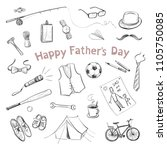 father's day. collection of... | Shutterstock .eps vector #1105750085